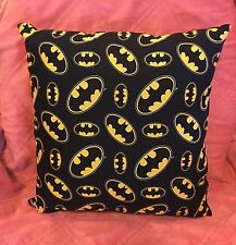 "Beautiful Handmade Black & Yellow Batman  Accent - Throw Pillow. 14"" x 14"""