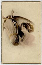Donnina Elegante Cavallo Horse Lady PC Circa 1920