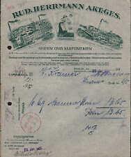BERLIN u. WRIEZEN, Rechnung 1925, Fabriken für Seifen u. Parfümerien R. Herrmann