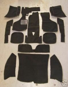 VOLKSWAGEN KARMANN GHIA 60-73 SEDAN BLACK LOOP CARPET KIT WITH 20 OUNCE PADDING