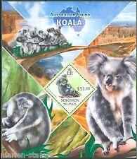 SOLOMON ISLANDS  2013 AUSTRALIAN FAUNA KOALA BEAR SOUVENIR SHEET  MINT NH