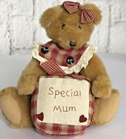 Special Mum Teddy Bear Mothers Day Gift Plush Treasured Home  Display