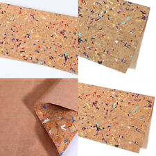 A4 Printed Cork Fabric For DIY Bows Garment Handbag Accessories Sewing Materials