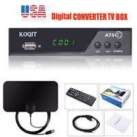 FTA ATSC digital converter box Clear Analog Cable ATSC Tuner TV Receiver Antenna