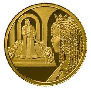 ISRAEL COIN & MEDAL 2021 KING SOLOMON AND THE QUEEN OF SHEBA SMALLEST GOLD