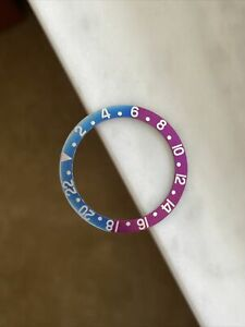 GMT BEZEL INSERT FOR VINTAGE GMT 1675 Faded Fuchsia Aftermarket