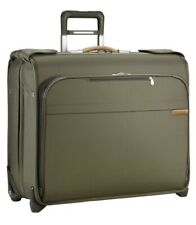 """Briggs and Riley Deluxe 9.3""""x24""""x20"""" Wheeled Upright - OLIVE"""