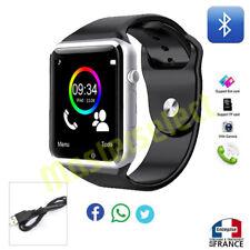 Smartwatch montre connectée avec téléphone bluetooth carte puce sim microsd A1