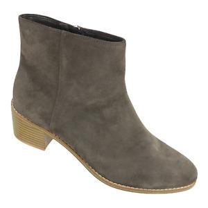Clarks Womens Breccan Myth 26121765 Daim Kaki Block Heel Ankle Boots Size 10 M