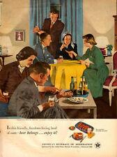 1940s vintage AD BEER, US Brewer's Foundation, art  Douglass Crockwell 062714