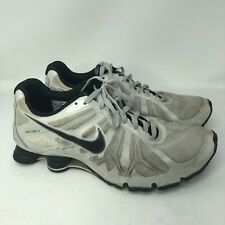 Nike Shox Turbo 13 Men White Black Running Shoes Sz 14