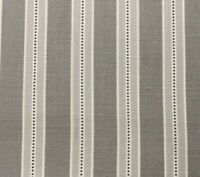 Holm Stripe Panama Cotton Lamp Room Grey 140cm wide Oslo Curtain Fabric