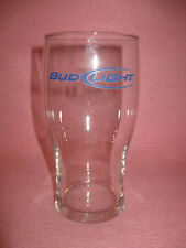 Bud Light Beer Clear Glass Blue Lettering - Bud Light Etched inside bottom
