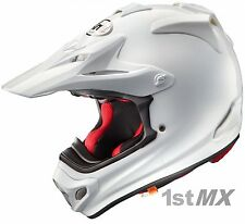 Arai MX-V MXV Plain White Motocross MX Offroad Race Helmet Adults Medium 57-58cm