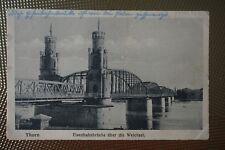 Thorn, Westpreußen, Eisenbahnbrücke über die Weichsel, Bahnpost