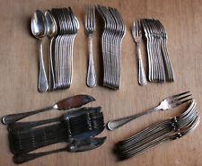 Service à poissons à entremets à gateaux ou huitres métal argenté BOULENGER 60Ps