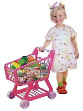 FB FunkyBuys® Pink/Blue Kids Children Boys/Girls Shopping Trolley w/ 34Pcs Fruit