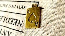 Tarjeta de juego Dijes De 8 Estilo Vintage Bronce Antiguo Encanto Colgante C238
