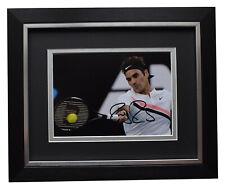 Roger Federer Signed 10x8 Framed Autograph Photo Mount Tennis Sport AFTAL COA