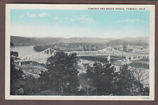 Pomeroy And Mason Bridge Pomeroy Ohio Postcard
