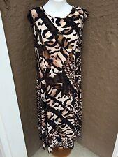New Soldout $159 Chico's Adrian Animal Print Maxi Dress 3 XL 16 18 NWT Black Tan
