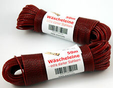 Cuerda para tender la ropa rojo 50m con refuerzo de acero Cable Correa