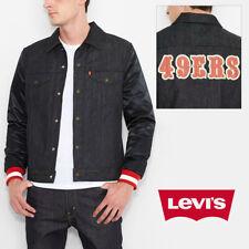 Levis мужские NFL 49ERS оригинал джинсовая Университетская куртка дальнобойщика специальное издание 18193