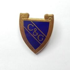 Vintage Cheltenham & Gloucester building Society Shield Shaped badge