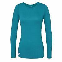 Details about  /New Adar Women/'s Comfort Long Sleeve T-Shirt Underscrub Tee #2900