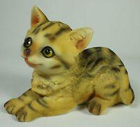 Kitten Figurine Prone Polyresin Cat Figure Statue Animal Pet Feline Kitty Feline