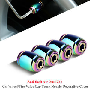 4PCS Auto Car Wheel/Tire Valve Cap Truck Nozzle Cover Anti-theft Dust Cap +Tool