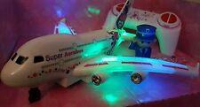 Avión aerobús Niñas Rosa De Radio Control Remoto Juguete velocidad rápida luces led coche