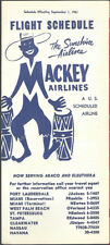 Mackey Airlines system timetable 9/1/61 [7111]
