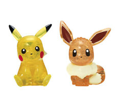 Crystal 3D Puzzle Pokemon Pikachu & Eevee 48 Pieces BEVERLY 50247 New from Japan