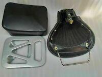 VESPA FRONT REAR SEAT VBA VBB GL VNA VNB 125 150 SPRINT BLACK CHROME HANDLE