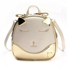 Mini Backpack Gold Laser Girls Women Small Backpack Sliver Cat Cartoon Bag