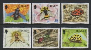 Jersey - 2008, Insects, 2nd series set - MNH - SG 1393/8