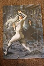 Marvel Cloak and Dagger 1  -- Original Airbrush Painting By late Hermes Tadeu