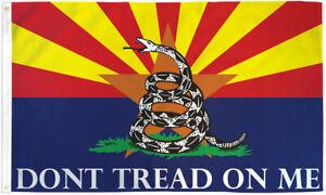 Arizona Gadsden Flag 3x5ft Arizona Don't Tread on Me Flag AZ Snake Flag