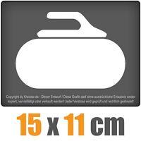 Curling Stein 15 x 11 cm JDM Decal Sticker Auto Car Weiß Scheibenaufkleber