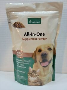 NaturVet All-in-One Dog Supplement 60 day Joint Support, Digestion, Skin, & Coat