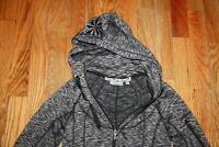 Athleta Women's Gray Space Dye Full Zip Strength Hoodie Jacket size XXS