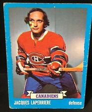 JACQUES LAPERRIERE 1973-74 Topps Hockey ERROR OddBaLL Card #137 Circle on FACE