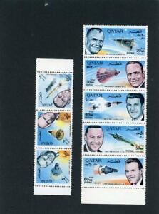 Qatar 1966 Space Scott# 104-104A Mint NH