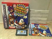 Sonic Pinball Party for Nintendo Gameboy Advance Game GBA Complete