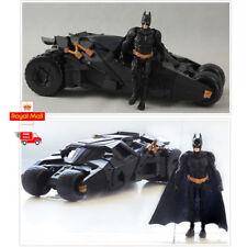 UK Batman Dark Knight Batmobile Tumbler Black Car Vehicle Toys With a Figure Box
