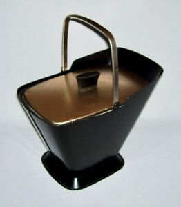 """WEST BEND ~ MCM Vintage """"KOLD SKUTTLE"""" (Coal Scuttle) Ice Bucket For Cold & Hot!"""