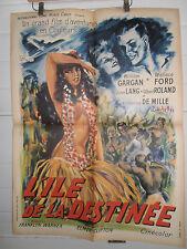 AFFICHE CINÉMA ORIGINALE / ORIGINAL  L'ILE DE LA DESTINÉE 1940 format 78 x 60 cm
