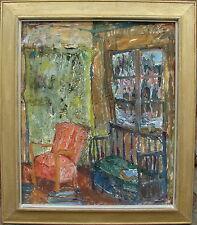 Barbro Brane 1925-1989, Atelier-Interieur, Gouache auf Leinwand, um 1960/70