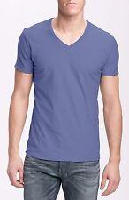 NWT AUTHENTIC DISEL Blue Tos Extra Trim Fit Vneck Slub Tshirt  Size XL